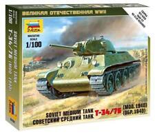 Soviet Tank T-34 1/100 Model Kit - Zvezda 6101