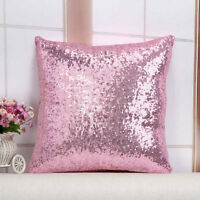 Sequins Sparkly Square Pillow Case Cover Sofa Lounge Home Office Decor Cushion.