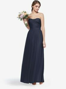 Gather & Gown Bridesmaid / Prom /Formal Dress Style-Baldwin  Color-Black Size-10
