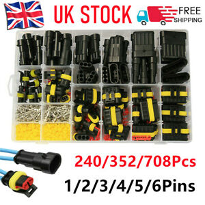 708Pcs Car Automotive Waterproof Electrical Wire Connector Plug 1-6 Pin Kit UK