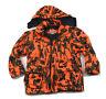 Winchester Blaze Orange Camouflage Insulated Hunting Jacket + Hood Camo Men's L