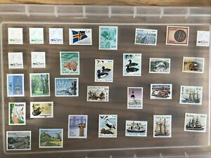 Aland stamps Mint unchecked