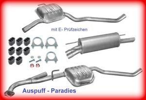 Abgasanlage Auspuff Schalldämpfer für Opel Omega B 2.2i 16V Stufenheck + Kit
