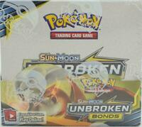 Pokémon Sun & Moon Unbroken Bonds FACTORY SEALED Booster Box - 36 Packs