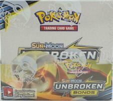 Pokémon Sun & Moon Unbroken Bonds FACTORY SEALED Booster Box - 36 Packs