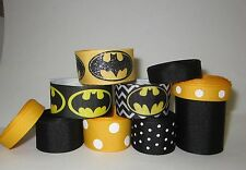 GROSGRAIN BATMAN RIBBON LOT FOR MAKING BOWS 10YDS