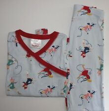 Hanna Andersson Pajamas Long Johns Ice Figure Skating Girls Size 140 10 EUC