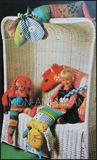 Sewing Pattern • PATCHWORK TOYS • RAG DOLL • CAT • DOG • HORSE • Xmas Decoration
