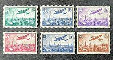 France 1936 ++ Survol de Paris ++ PA Y&T N°s 8 à 13 ++ Neufs Sans Charnière TTBE