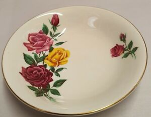 Vintage British Anchor Pottery Co Ltd Floral Jam Dish c1960 Made in England