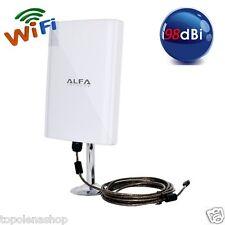ANTENNA SCHEDA WIRELESS WIFI 150Mbps USB ALTA POTENZA 98dBi PC FISSI NOTEBOOK
