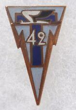 Insigne boutonnière 42° RT REGIMENT TRANSMISSIONS  miniature ORIGINAL émail