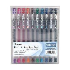Pilot Gel Ink Ball Pens 10 Pack Pouch Ultra Fine 04mm Bio Polymer Razor Sharp