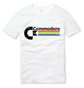 Vintage Style Commodore C64 Retro Gaming T Shirt White