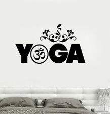 Vinyl Wall Decal Yoga Meditation Buddhism Sanskrit Stickers Mural (ig3242)