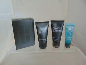 Clinique For Men Essential Skin KIt, Face Wash, Cream Shave & Hydrator New & Box