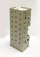 Ruin Building Abandoned Tall Office Outland Models N Scale After War Scenery