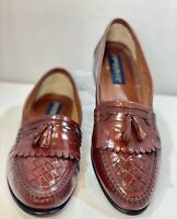 Giorgio Brutini Men's Brown Leather Basket Weave Kiltie Tassel Loafer Shoe 12-D
