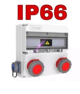 Stromverteiler  Wandverteiler Baustromverteiler IP66 Sicherung Verteiler Schuko