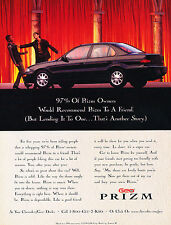 1997 Chevrolet Geo Prizm Original Advertisement Car Print Ad J351