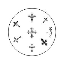 MoYou Image Plate 14 Nail Art Stamping Template Stencil Manicure design Cross