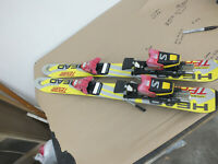 "Head  Kids  Skis - 85 cm   34"" Short kids skis W Bindings  AS IS"