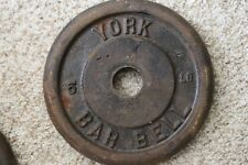 York Barbell 5 lb vintage for universal machine or thin bar