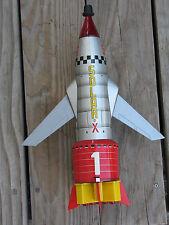 RARE Vintage 1966 NOMURA SPACE ROCKET #1 SOLAR-X Tin Toy w/ BOX B/O - WORKS!