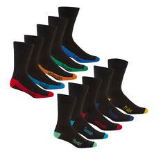 Men's Heel & Toe Socks 10 Pairs Novelty Days Of The Week Multipack Vibrant 6-11