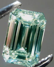 3.64 ct Si2 OFF WHITE ICE BLUE COLOR EMERALD LOOSE REAL MOISSANITE 4 RING
