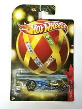2011 Hot Wheels Holiday Hot Rods 1/4 Mile Coupe Blue Car NOC Christmas