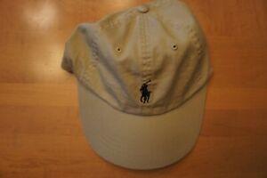 Polo - Ralph Lauren - men's classic o/s baseball cap - nubuck beige/ navy pony