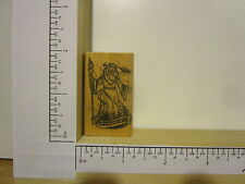 Rubber Stamp by RUBBER HEADS Santa with Staff Christmas
