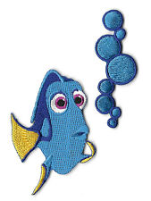 Dory - Finding Dory - Bubbles - Embroidered Iron On Applique Patch - BR - 2PC