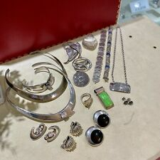 Lot of Sterling Silver .925 Jewelry Vintage and Modern Not Scrap 320 Grams No Re