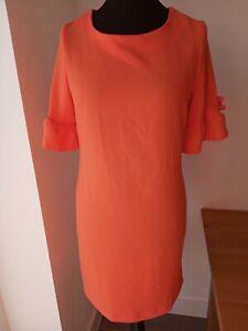 Tu 12 Orange Dress With Pretty Sleeve Detail