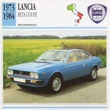 1973-1984 LANCIA BETA COUPE Classic Car Photo/Info Maxi Card