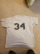 Unbranded Heather Gray Softball Baseball Basketball 50/50 T-shirt #34