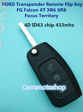 FORD 3 Button Transponder Remote Flip Key FG Falcon XT XR6 XR8 Focus Territory