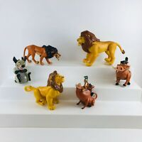 Vintage Disney Lot of The Lion King Figures Simba Mufasa Scar Pumbaa Hyena