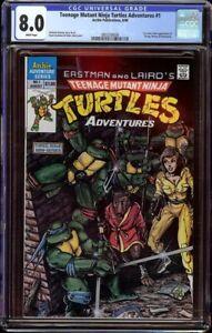 TMNT Adventures # 1 CGC 8.0 White (Archie, 1988) 1st Krang, Bebop, & Rocksteady