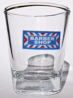 Barber Shop Logo on Clear Shot Glass