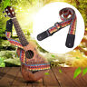 LN_ Colorful Weaving Adjustable Cotton Faux Leather Ukulele Shoulder Strap Sal