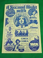 1977 Concert Handbill ALADDIN Peter Frampton/The Tubes/J. Geils Band/Chick Corea