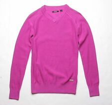 Adidas Women V Neck Sweater (S) Pink B88363