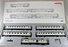 """Märklin 4228 Wagen-Set """"Rheingold"""" silberfarbig der DRG aus Sammlung mit OVP A"""