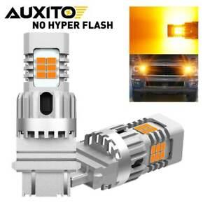 AUXITO Super Bright 3157 4057 4157 CANBUS Amber LED Turn Signal Light Bulb Auto2