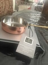 """Copper Plated Saute Pan Small 4 3/4 x 1.5"""" By Gibson New W/Tags"""