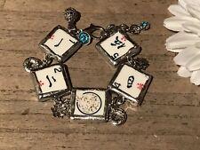 Recycled Broken Game Tile Jewelry, Mah Jongg Catalin Bracelet (SIZABLE)