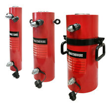 """Double Acting 100Ton Hydraulic Cylinder 12"""" Stroke Jack Ram 19.35"""" Closed Height"""